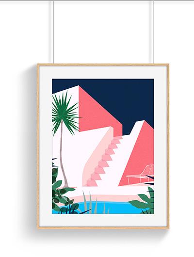 Poster deco jungle Zerura