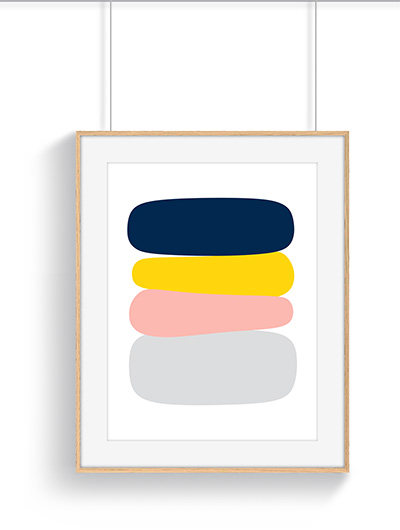 Affiche abstraite barbapapa
