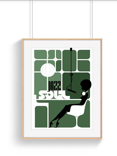 Poster jazz soul vintage