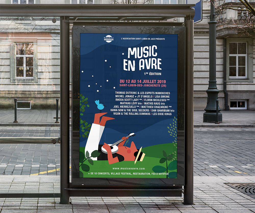 Affiche graphique festival Jazz Music en Avre